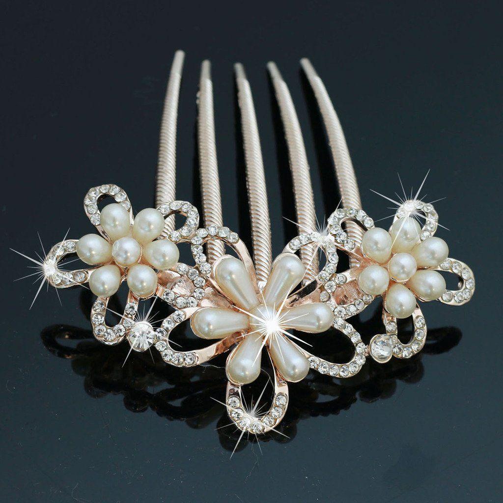 bridalvenus decorative wedding hair combs with rhinestones- bridal