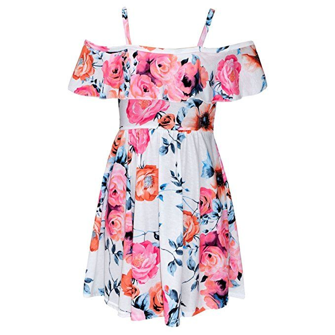A2Z 4 Kids® A2Z 4 Kids® Mädchen Skater Kleid Kinder Blumen Aufdruck ...