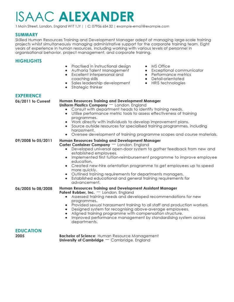 Human Resource Internship Resume Unique Amazing Human