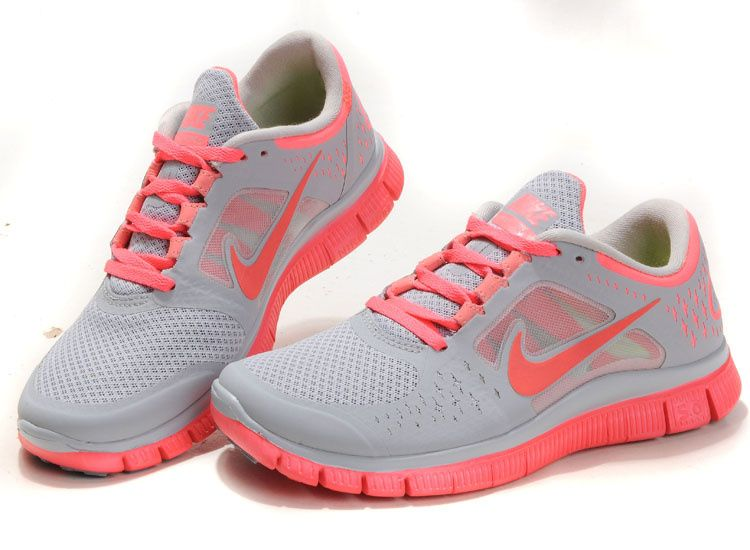 outlet store 7778a 8138a Nike Free Run 3 Women SteelGray Pink
