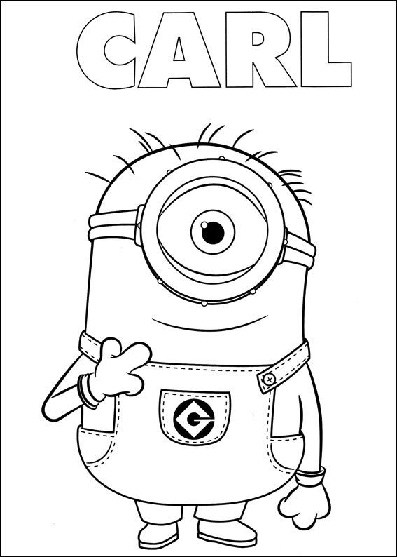 Minions-colorear (5) | yadis | Pinterest | Minion coloring pages ...