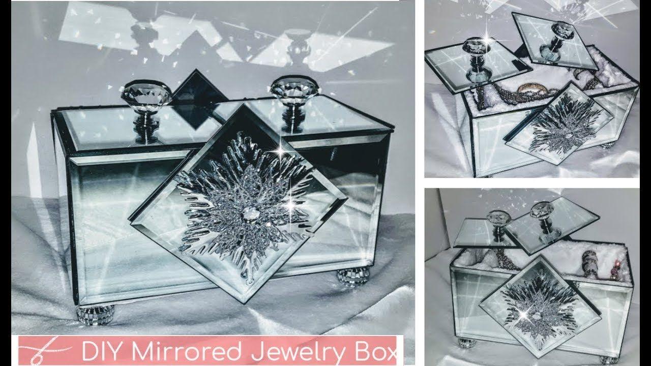 Dollar Tree Diy Christmas Gift Ideas Diy Mirrored Jewelry Box
