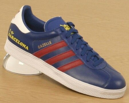 cheaper 6a47b 53967 THE GAZELLE BARCELONA EDITION FINISHED (OBVIOUSLY!) IN RED AND BLUE  LEATHER, AGAIN NOT SUEDE... I MUST ADMIT TO HAVING A PREFERENCE FOR GAZELLES  TO BE ...