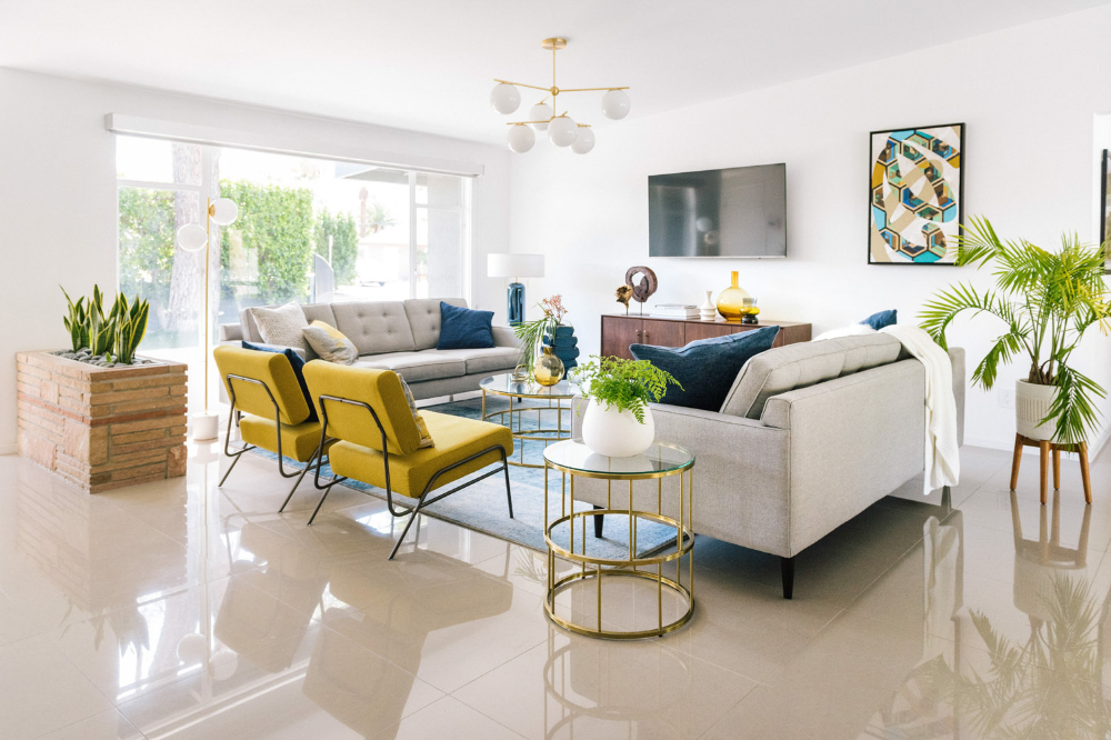 Design Crew Living The Modern Life In Palm Springs Front Main In 2020 Living Room Decor Apartment Colourful Living Room Living Room Decor #palm #springs #living #room