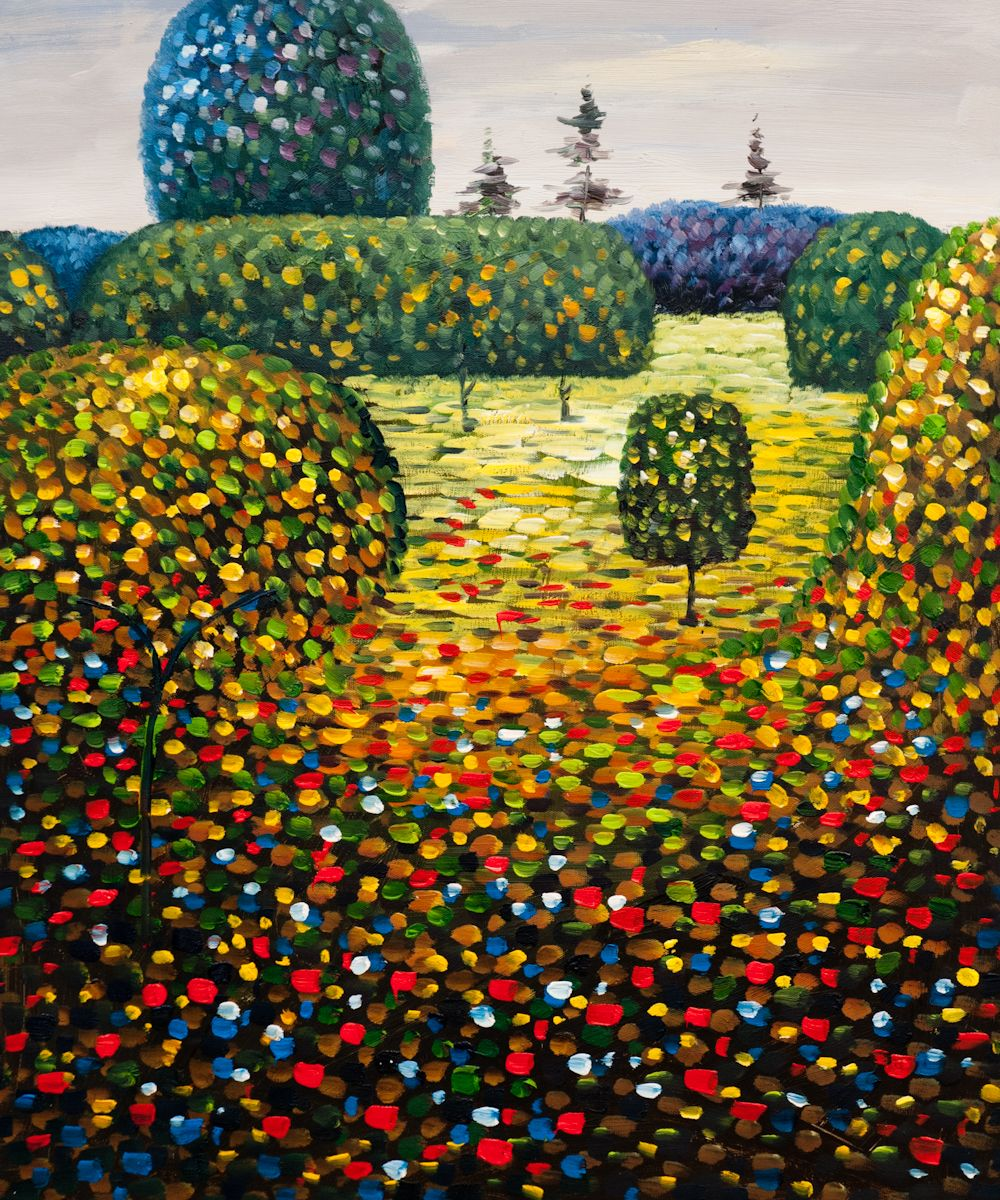 Poppy Field Painting Gustav Klimt Art