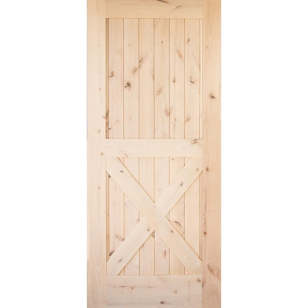 Krosswood Doors 36 In X 84 In Krosswood Knotty Alder 2 Panel Single X Solid Wood Core Interi Wood Doors Interior Solid Wood Interior Door Interior Barn Doors