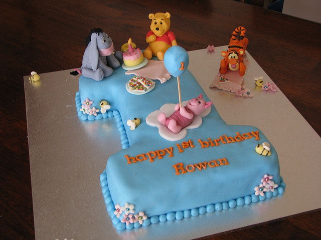 Winnie the Pooh Friends 1st birthday cake Birthday cakes
