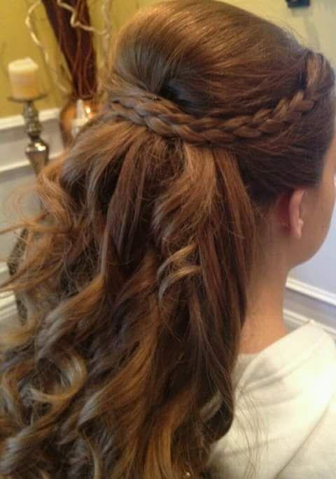 peinados para nias para primera comunion
