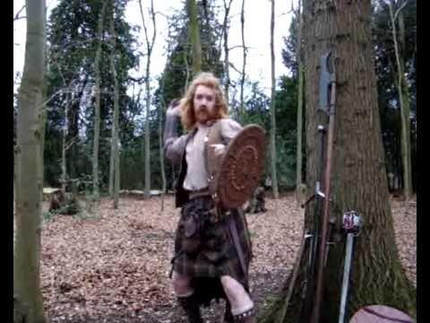 Scottish Clan Warrior Kilt and Weapon Demo