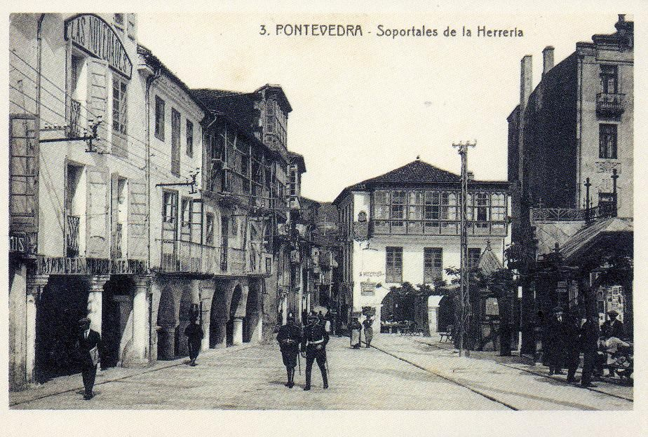 Soportales da Ferrería.  Pontevedra