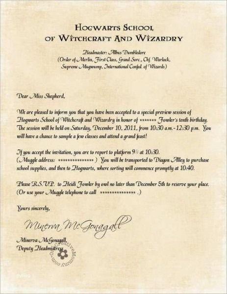 hogwarts einladung vorlage | harry potter geburtstagsparty
