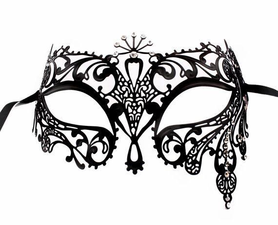 Diosa de Sun Máscara Negro metal de filigrana por Glamorousgala