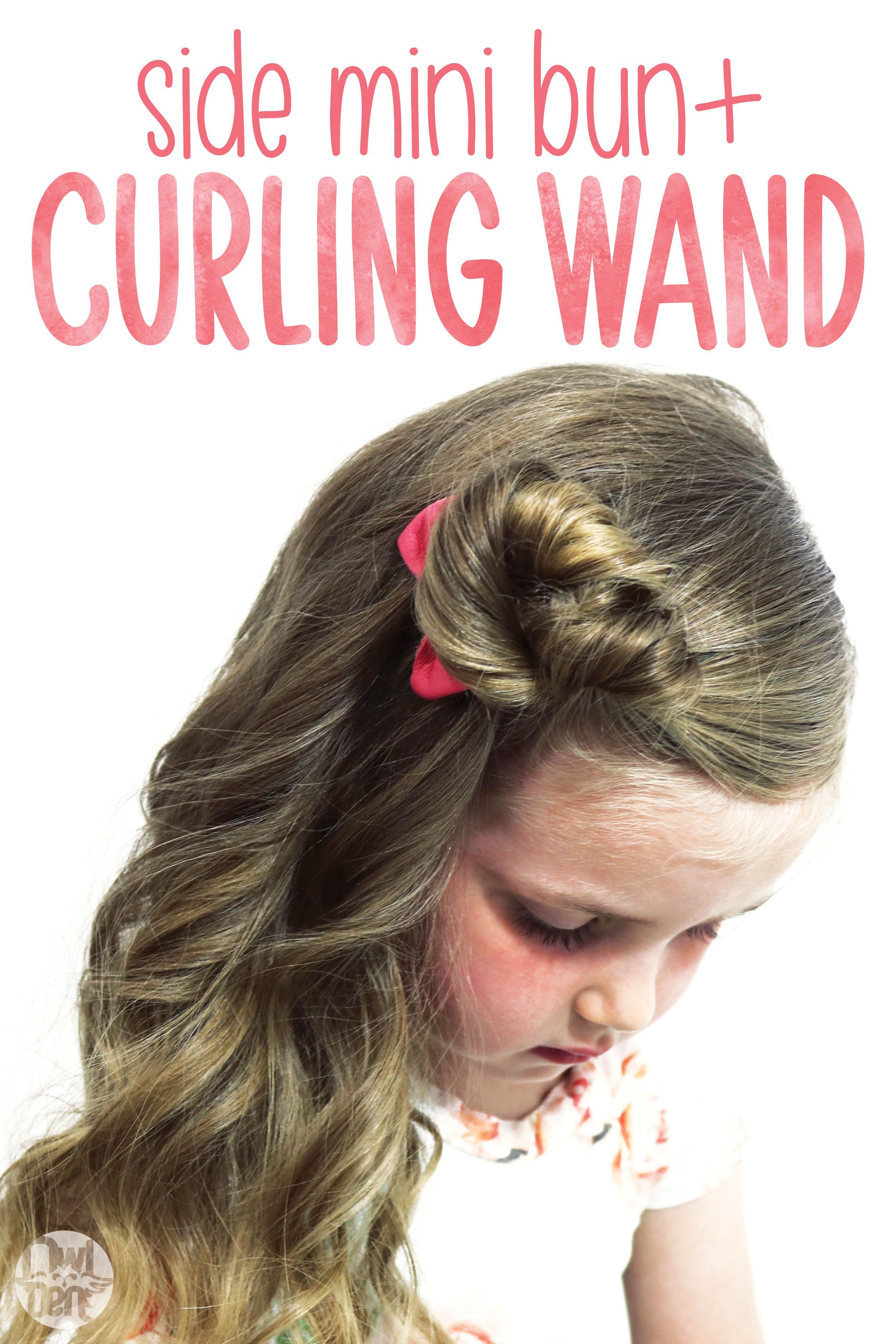 Hair Tutorial Side Mini Bun Curling Wand Video Hair