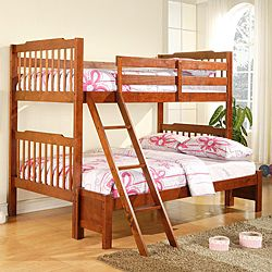 Simone Mahogany Twin Full Bunk Bed Overstock Com Shopping Great