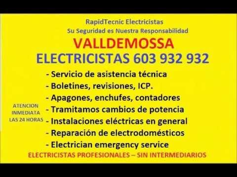 Electricistas VALLDEMOSSA 603 932 932 Baratos