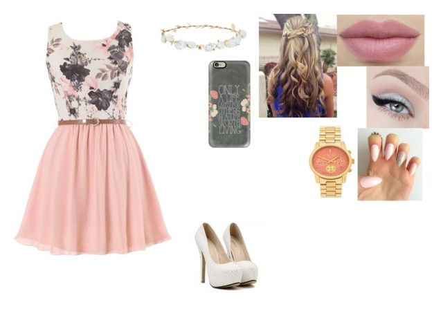 """""""Untitled #222"""" by paige-york0215 ❤ liked on Polyvore featuring beauty, Michael Kors, Robert Rose and Casetify"""