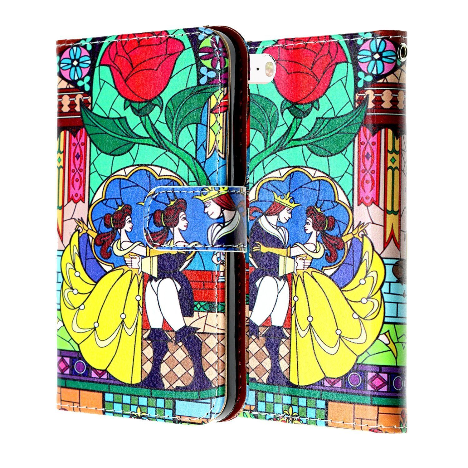 Beauty the beast iphone 8 wallet case imagitouch folio