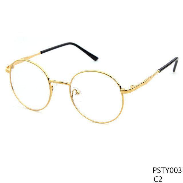 Long Keeper Metal Round Eyeglasses Retro Glasses Frames Reading ...