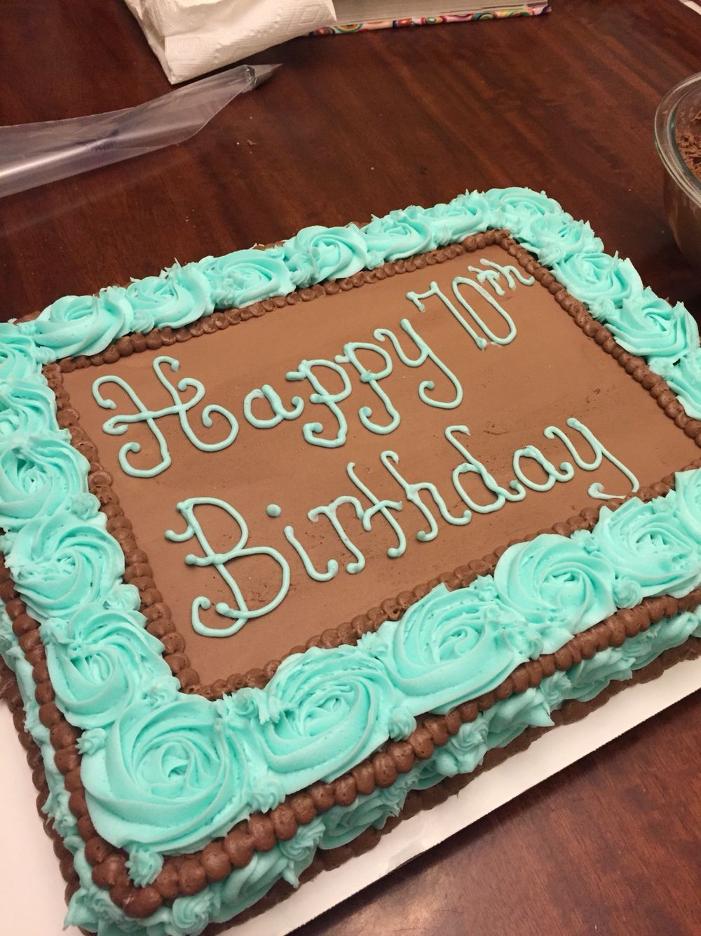Rosette border cake Birthday sheet cakes, Sheet cake