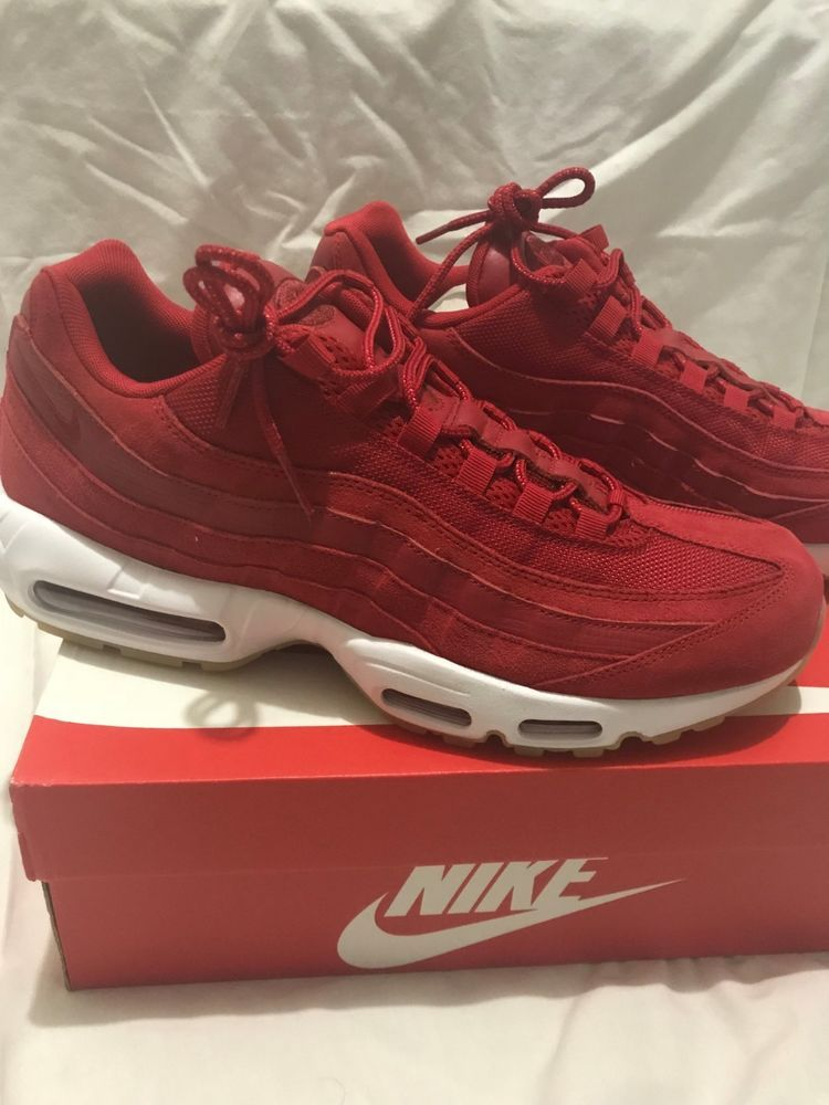 classic fit 5c2be 9541c Nike Air Max 95 Premium PRM Gym Red White Gum New Men s Size 13  fashion   clothing  shoes  accessories  mensshoes  athleticshoes (ebay link)