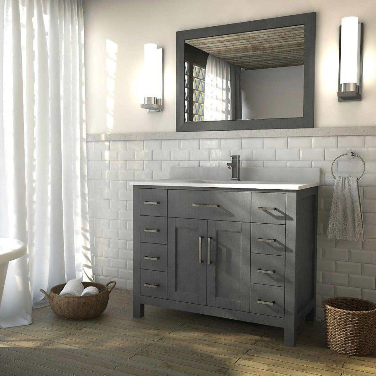 Studio Bathe Kalize 42 French Grey Single Vanity with Mirror