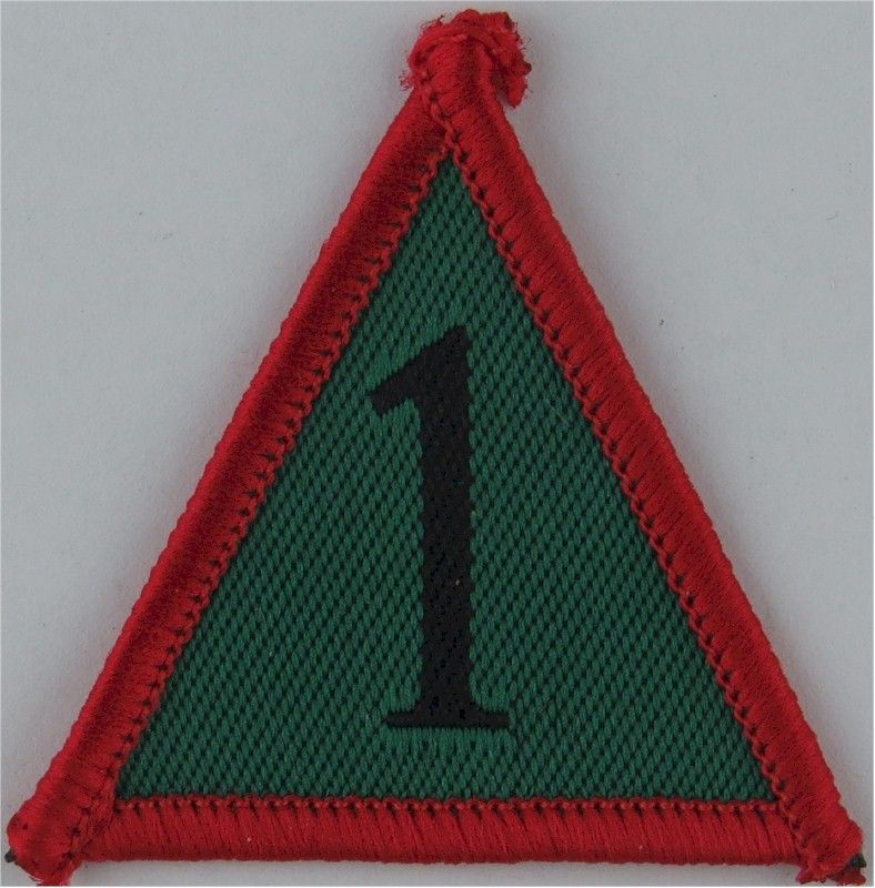 1st uk mechanized brigade black 1 green triangle