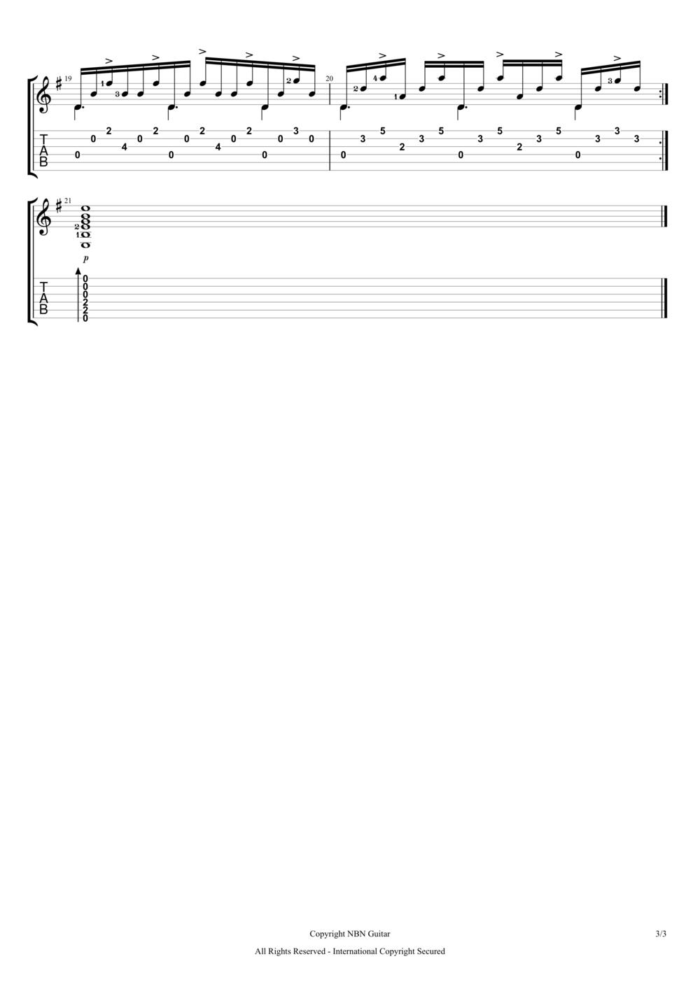 Comptine D Un Autre été Guitar Tutorial Comptine D Un Autre Ete Sheet Music Tabs 3 Png Classical