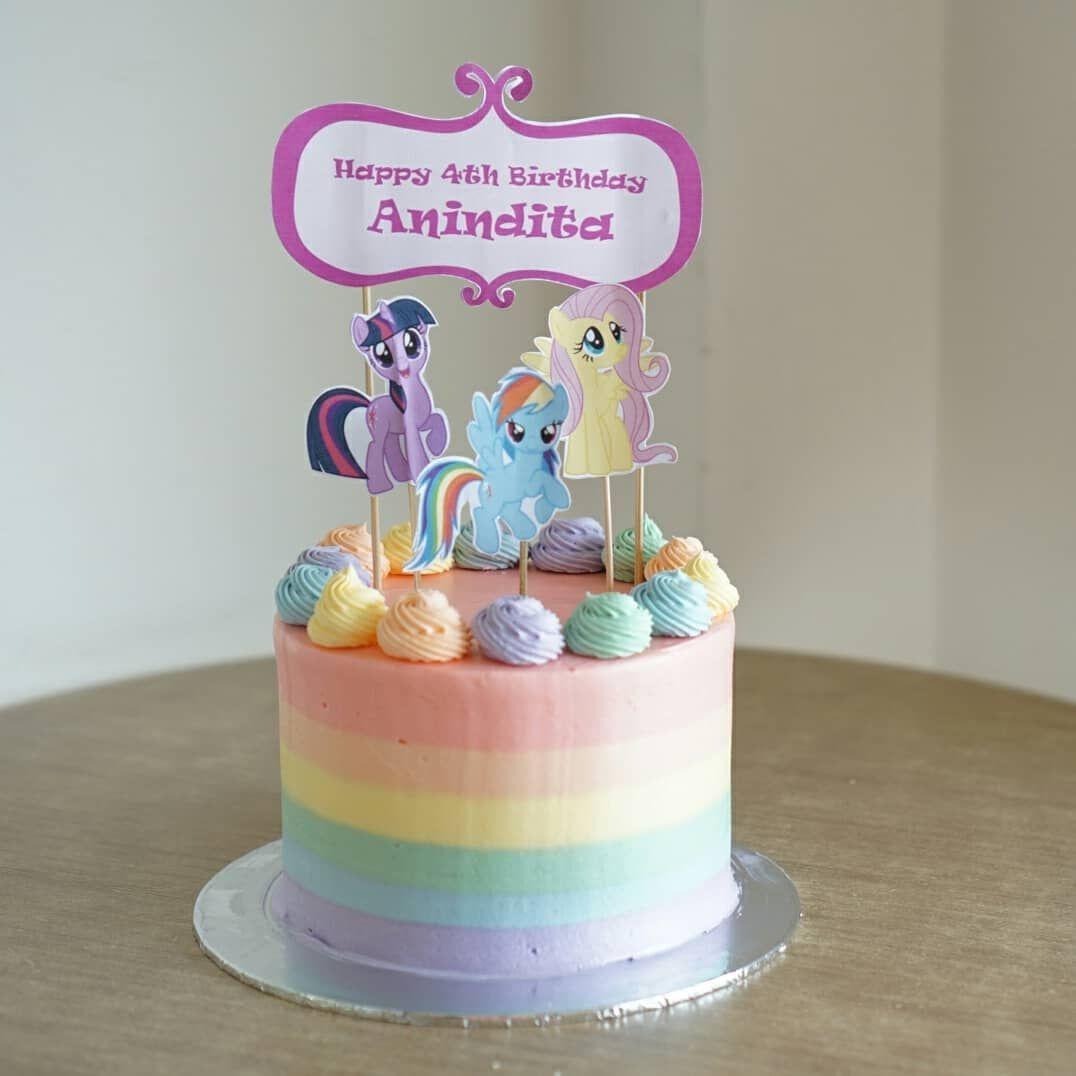 My Little Pony Buttercream Birthday Cake Wa 08161966824 With