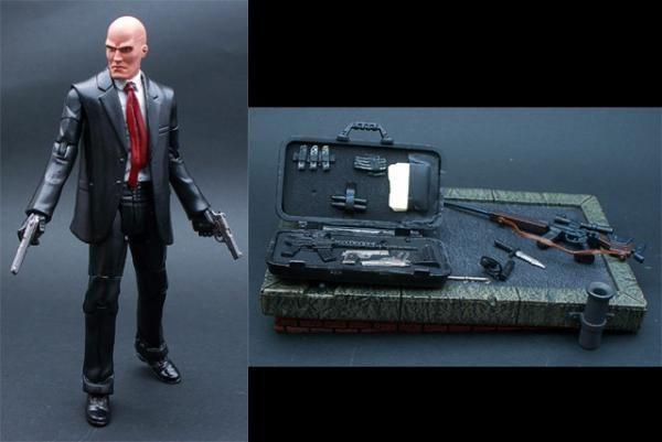 Agent 47 Hitman Custom Action Figure Custom Action Figures Action Figures Custom