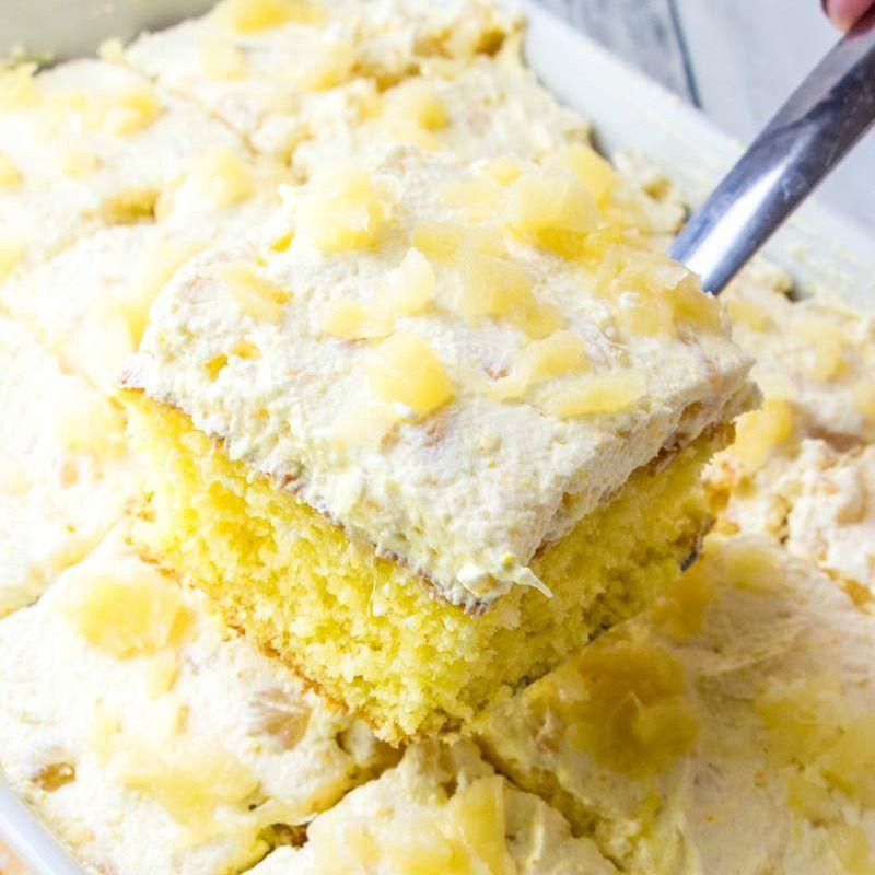 Pineapple Sunshine Cake #creamfrosting