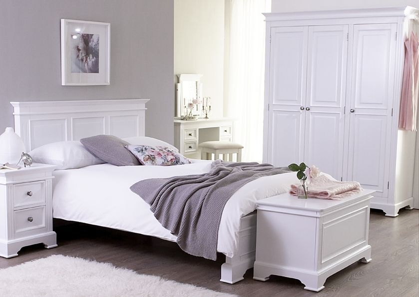 Painted bedroom furniture. lovely ivory and mauve bedroom design   Bedroom Decor   Pinterest