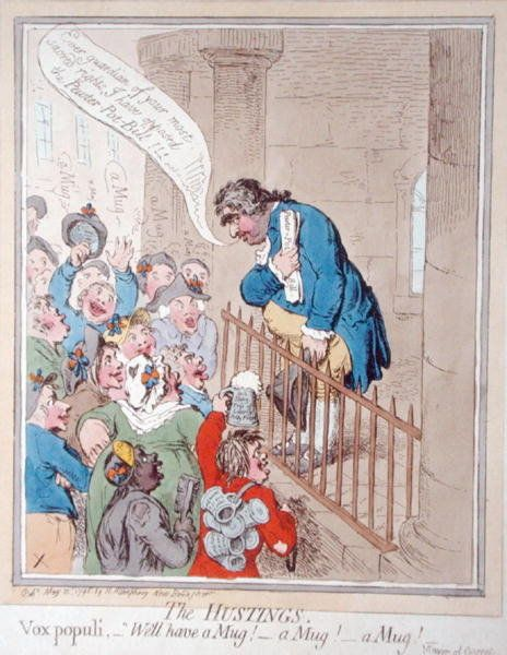 The Hustings, published by Hannah Humphrey in 1796 by James Gillray