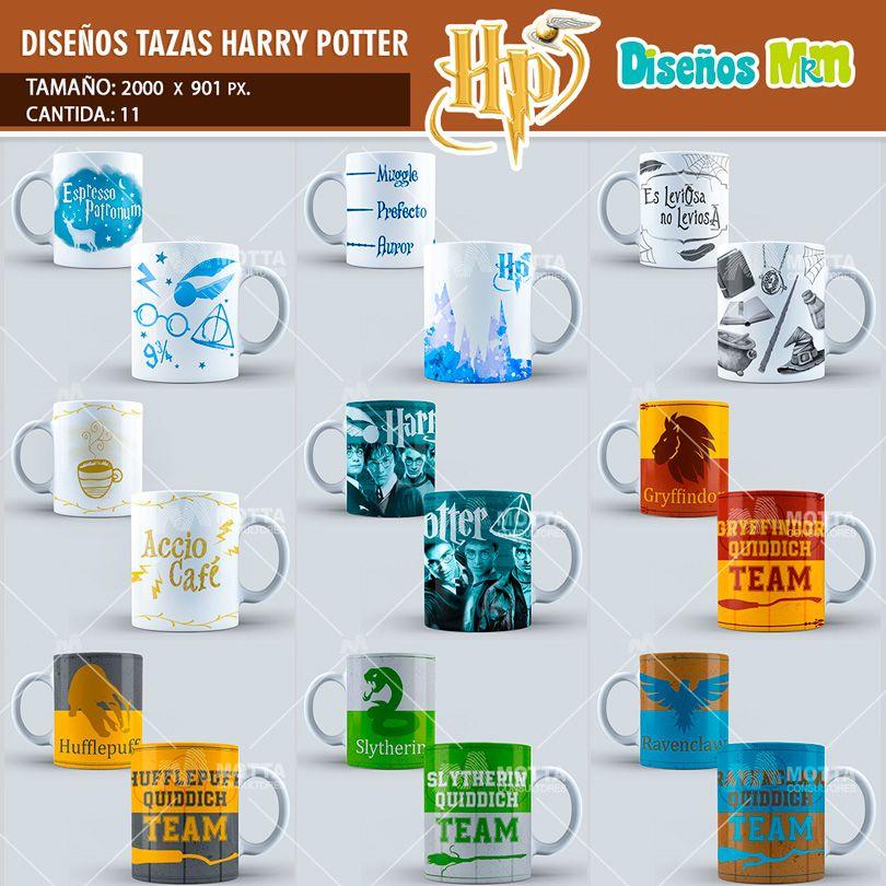 plantilla-diseño-marco-tazas-mug-design-harry-potter-hechizos ...