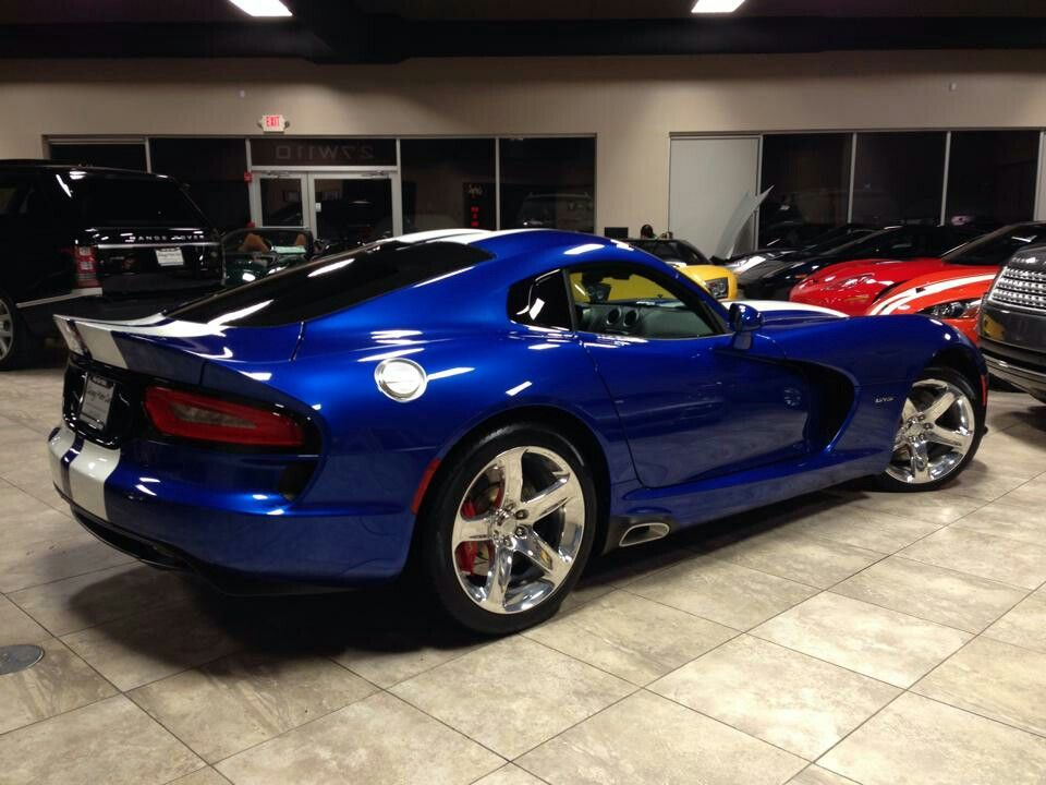 Classic Blue With White Stripes Viper Cars Pinterest