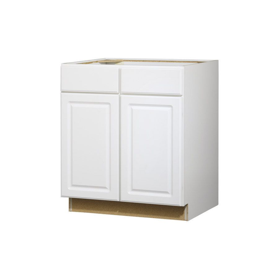 Shop Kitchen Classics Concord 35 In X 30 In X 23 75 In Finished White Door And Drawer Base Cabinet At Lowes C Kitchen Redesign Kitchen Space Savers White Doors