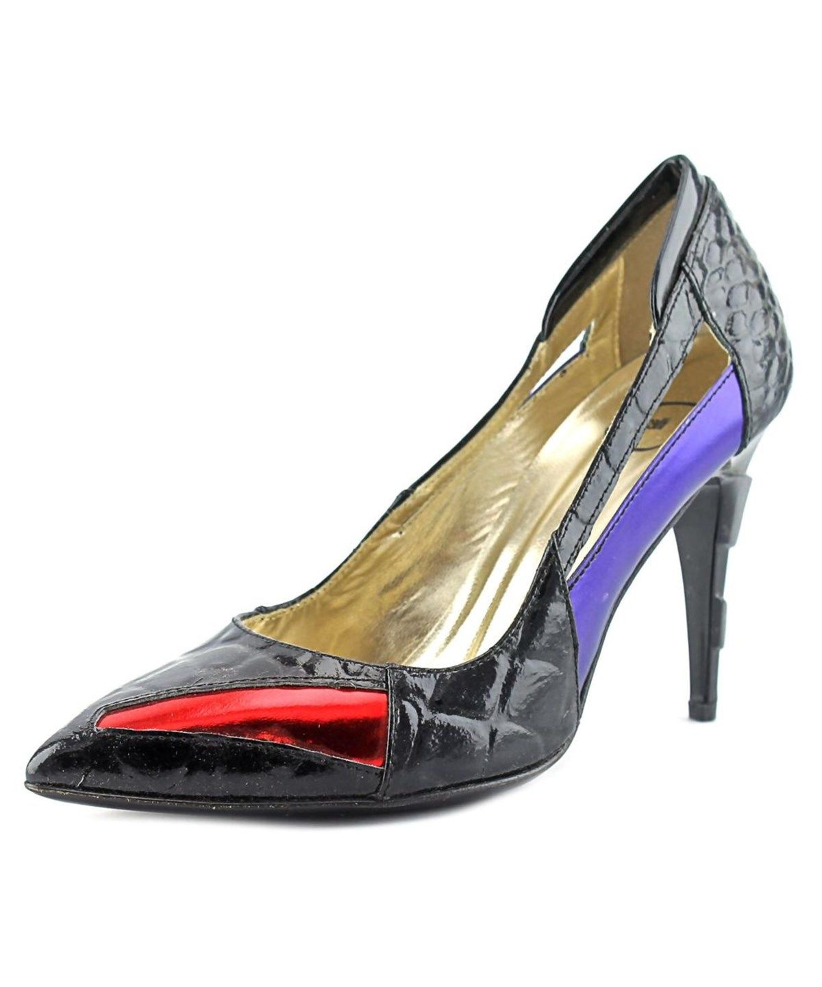 Womens Alluring Glossy Patent Red Peep Toe Pumps Shoes with 5.25 Inch Heels