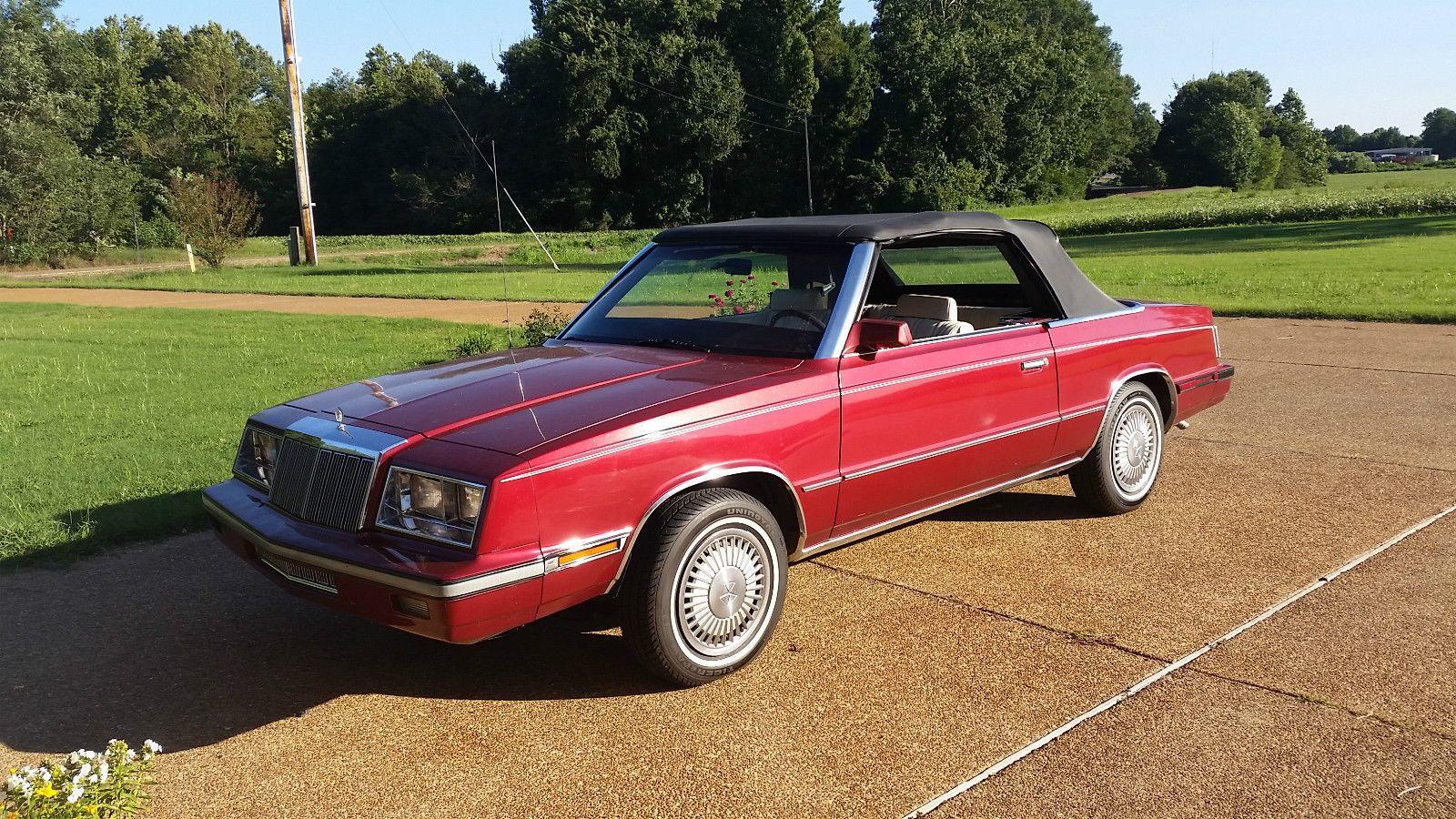 Car Brand Auctioned Chrysler Lebaron All Original 1985 Chrysler