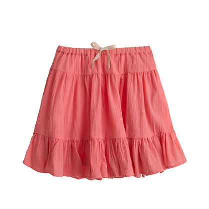 Girls' gauze skirt