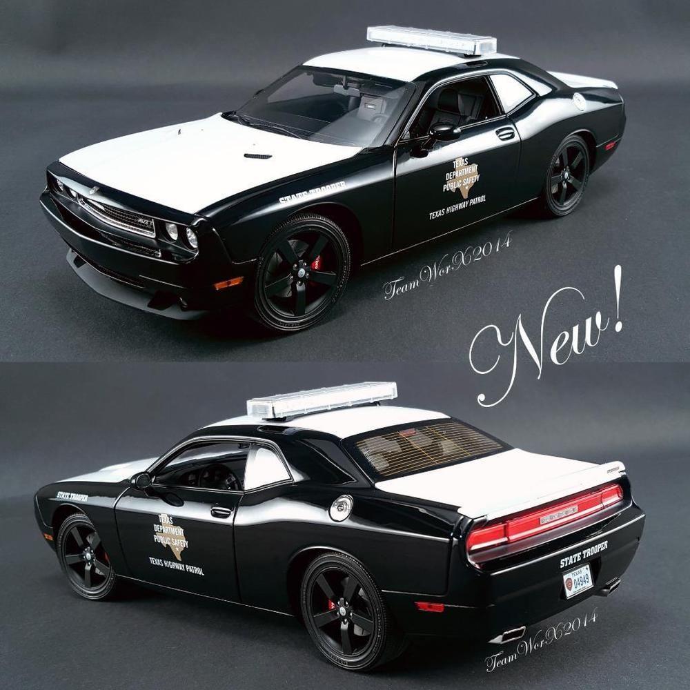 Acme texas highway patrol dodge challenger srt8 diecast car 1 18 a1806007 new