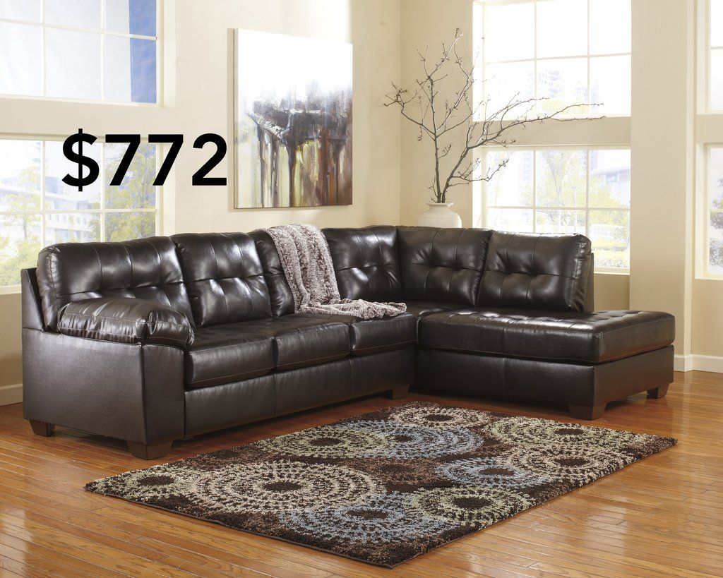 Best Alliston Chocolate Sectional Leather Sectional 400 x 300