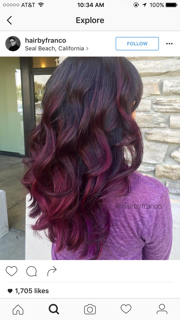 Magenta balayage hair style pinterest balayage hair style and
