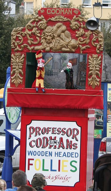 Punch and Judy booth with reliefs & Punch and Judy show | Puppet