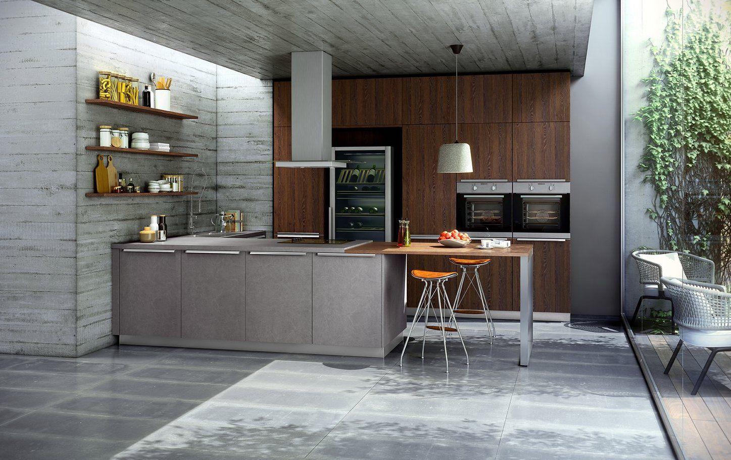 Contur® 51.180 / 52.170 Concrete Imitation Kitchen