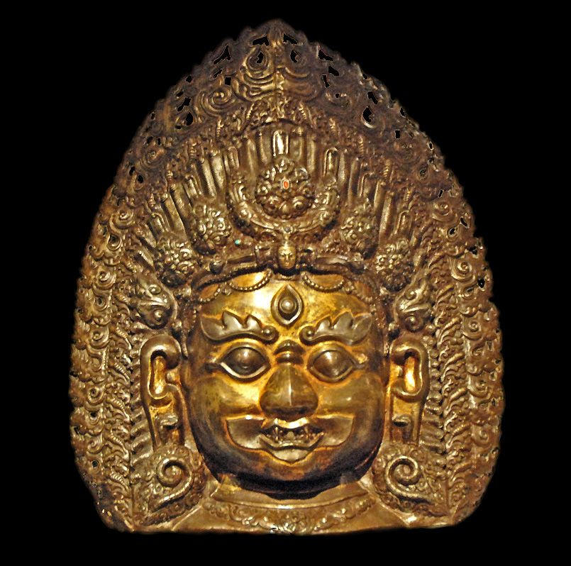 Bhairava icon of the fierce form of Shiva, from 17th/18th