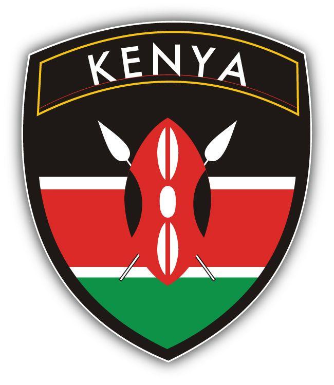 "Kenya Flag Car Bumper Sticker 5/"" x 4/"""