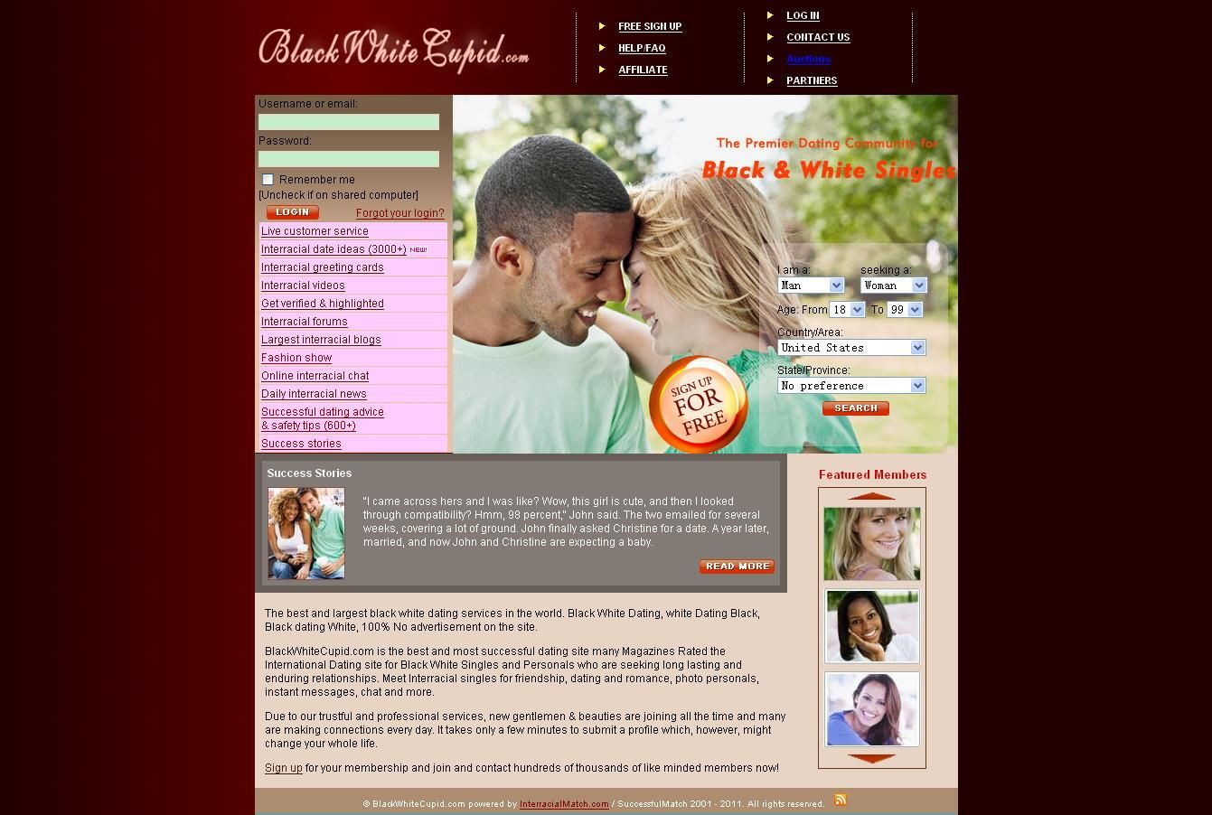 Black and white dating website