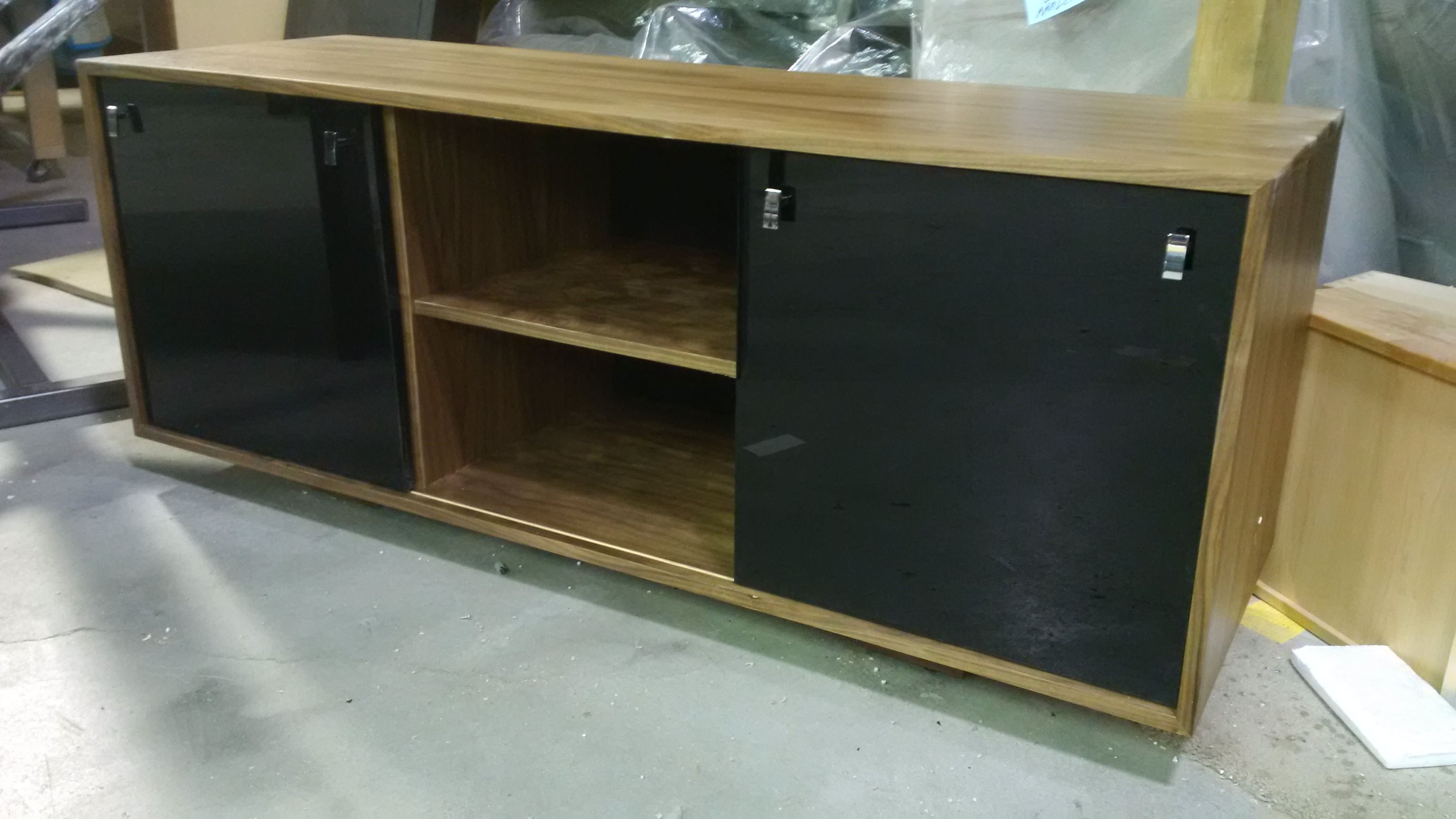 Sliding Door Media Cabinet Available In Three Sizes With Sliding