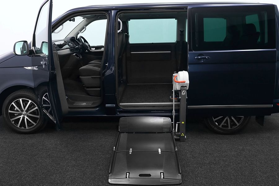 New VW Caravelle wheelchair accessible vehicle with a