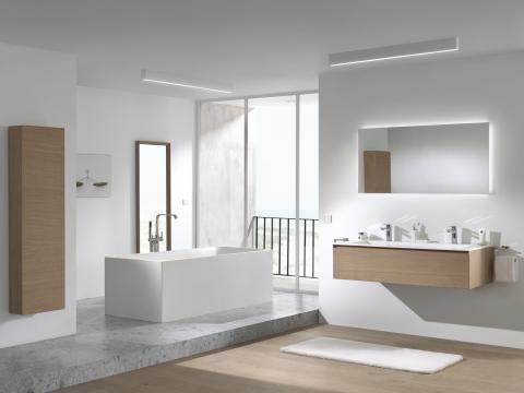 X2O | Balmani Badkamer meubel Mitra inferia eik met solid surface ...