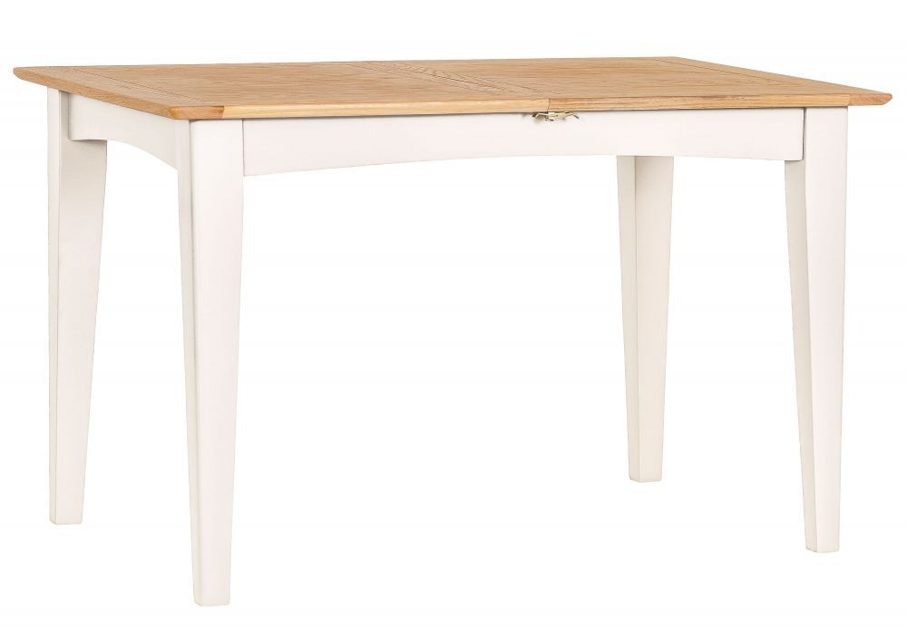 ea7960304c57 Malvern Shaker Ivory Painted Oak 210cm Extending Table #chilternoak This  table extends from 160cm to 210cm effortlessly thanks to the metal runner  smooth ...